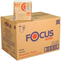 Купить салфетка бумажная 1-сл 250 шт/уп*18 240х265 мм для диспенсера focus ultra белая hayat 1/1 в Москве
