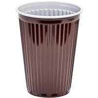 Купить стакан пластиковый 180мл d70 мм ps коричневый/белый papstar 1/100/3000 в Москве
