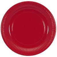 Купить тарелка бумажная d230 мм картон красный papstar 1/20/500 в Москве