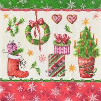 Купить салфетка бумажная 25х25 см 3 -сл 50 шт/уп рождество повсюду papstar 1/12 в Москве