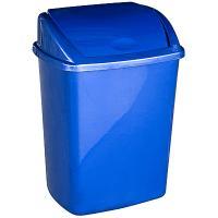 Купить контейнер мусорный прямоугольный 26л дхшхв 270х350х480 мм с качающейся крышкой пластик синий bora 1/16 в Москве
