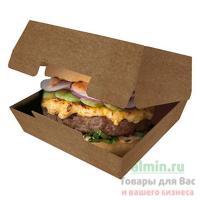 Упаковка для гамбургера ДхШхВ 140х140х70 мм КРАФТ GDC 1/50/150