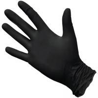 Купить перчатки одноразовые нитриловые xxl 100 шт/уп черные 1/10 в Москве