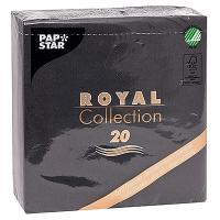 Купить салфетка бумажная черная 33х33 см 3-слойные 20 шт/уп papstar 1/12 в Москве