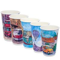 Купить стакан бумажный 400мл d90 мм 2-сл для горячих напитков big city life pps 1/18/360 в Москве