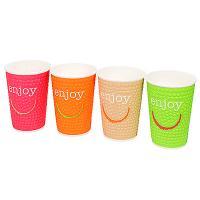 Купить стакан бумажный 400мл d90 мм 2-сл для горячих напитков enjoy разноцветный huhtamaki 1/25/500 в Москве