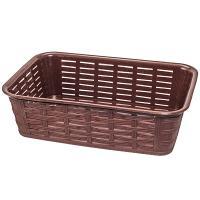 Купить корзинка для хлеба дхшхв 228х152х72 мм прямоугольная пластик темно-коричневая bora 1/76 в Москве