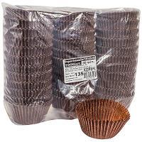 Купить капсула бумажная (тарталетка) круглая н40хd55 мм коричневая 1/1000/10000 в Москве