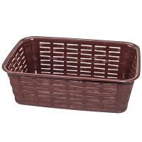 Купить корзинка для хлеба дхшхв 225х175х72 мм прямоугольная пластик темно-коричневая bora 1/76 в Москве