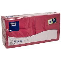 Купить салфетка бумажная бордовая 33х33 см 2-слойные 200 шт/уп tork sca 1/10 в Москве