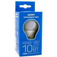 Купить лампа светодиодная e27 холодный свет 10w 220v груша старт 1/50 в Москве