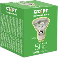 Купить лампа галогенная gu10 теплый свет 50w 220v старт 1/10 в Москве