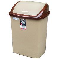 Купить контейнер мусорный прямоугольный 40л дхшхв 400х320х560 мм с качающейся крышкой пластик коричневый bora 1/16 в Москве