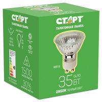 Купить лампа галогенная gu10 теплый свет 35w 220v старт 1/10 в Москве