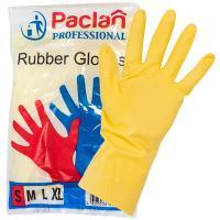 Купить перчатки хозяйственные s professional латекс желтые paclan 1/100 в Москве