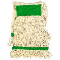 Купить насадка - моп (mop) для швабры веревочная петлевая с зеленой прошивкой kentucky 450 г белая хлопок hunter 1/25 в Москве