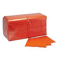 Купить салфетка бумажная оранжевая 24х24 см 1-сл 400 шт/уп папирус 1/18 в Москве