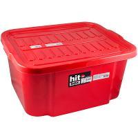 Купить ящик для хранения 38.4л дхшхв 510х420х245 мм с крышкой пластик красный bora 1/1 в Москве