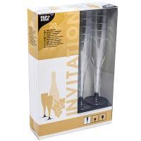 Купить фужер 100мл для шампанского со съемной черной ножкой комплект ps прозрачный papstar 1/20/100 в Москве