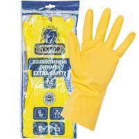 Купить перчатки хозяйственные m особопрочные extra safety латекс textop 1/12/144 в Москве