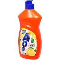 Купить средство для мытья посуды 450мл aos лимон нэфис 1/20 в Москве