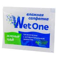 Купить салфетка влажная 1 шт в индивидуальной упак зеленый чай антибактериальная 1/1000 в Москве