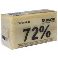 Купить мыло хозяйственное 200г 72% в упаковке светлое аист 1/48 в Москве