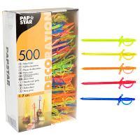 Купить пика декоративная шпага н70 мм 500 шт/уп для канапе пластик разноцветная papstar 1/10 в Москве