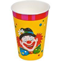 Купить стакан бумажный 200мл d80 мм 1-сл для горячих напитков клоун papstar 1/10/140 в Москве