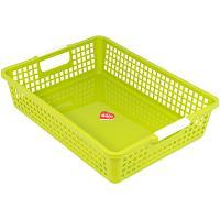 Купить корзинка дхшхв 358х254х83 мм пластик салатовая bora 1/48 в Москве