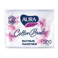 Купить палочки ватные 300 шт/уп aura в мягкой упаковке kk 1/36 в Москве