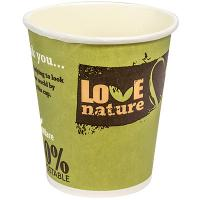 Купить стакан бумажный 200мл d80 мм 1-сл для горячих напитков love nature papstar 1/50/1000 в Москве