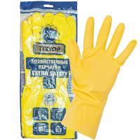 Купить перчатки хозяйственные l особопрочные extra safety латекс textop 1/12/144 в Москве