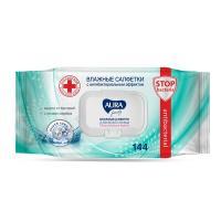 Купить салфетка влажная 144 шт/уп антибактериальная aura family kk 1/12 в Москве