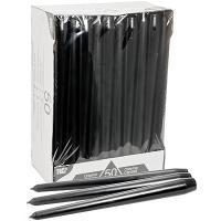Купить свеча коническая н250 мм 50 шт/уп черная papstar 1/2 в Москве