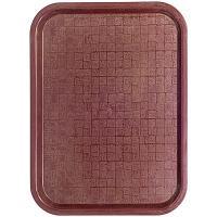 Купить поднос прямоугольный дхш 372х532 мм пластик коричневый bora 1/20 в Москве