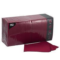 Купить салфетка бумажная бордовая 33х33 см 3-слойные 250 шт/уп papstar 1/4 в Москве