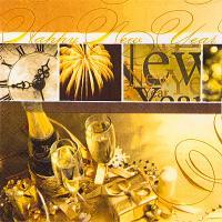 Купить салфетка бумажная 33х33 см 3-сл 100 шт/уп happy new year papstar 1/6 в Москве