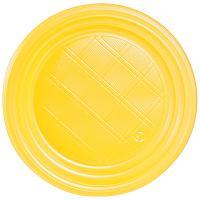 Купить тарелка d165 мм ps желтая ипк 1/100/2400 в Москве