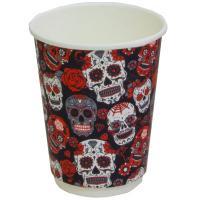 Купить стакан бумажный 300мл d90 мм 2-сл для горячих напитков santa muerte pps 1/20/400 в Москве