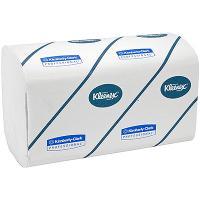 Купить полотенце бумажное листовое 3-сл 96 лист/уп 215х318 мм v-сложения kleenex белое kimberly-clark 1/15 в Москве