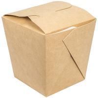 Купить контейнер бумажный china pack 560мл дхшхв 100х100х100 мм крафт gdc 1/35/420 в Москве