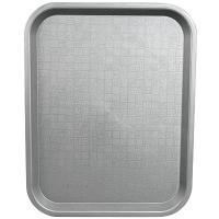 Купить поднос прямоугольный дхш 450х350мм темно-серый пластик bora 1/12 в Москве