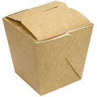 Купить контейнер бумажный china pack 560мл дхшхв 75х97х100 мм крафт 1/28/420 в Москве