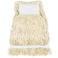 Купить насадка - моп (mop) для швабры веревочная петлевая с белой прошивкой kentucky 350 г белая хлопок hunter 1/35 в Москве