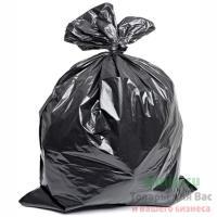 Мешок (пакет) мусорный 120л 650х1050 мм 40 мкм в пластах ПВД ЧЕРНЫЙ 1/50/200