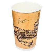 Купить стакан бумажный 400мл d90 мм 2-сл для горячих напитков города мира крафт pps 1/18/360 в Москве