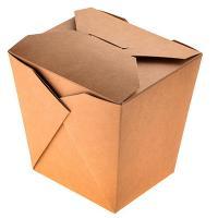 Купить контейнер бумажный china pack 700мл дхшхв 101х101х106 мм крафт gdc 1/30/360 в Москве