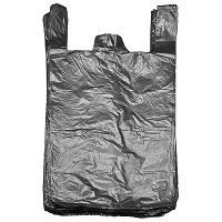 Купить пакет майка 420х750 мм 15 мкм пнд черный 1/100/1500 в Москве