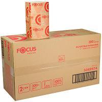 Купить полотенце бумажное листовое 2-сл 200 лист/уп*15 230х210 мм v-сложения focus premium белое hayat 1/1 в Москве